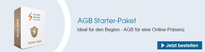 AGB Starter-Paket bestellen